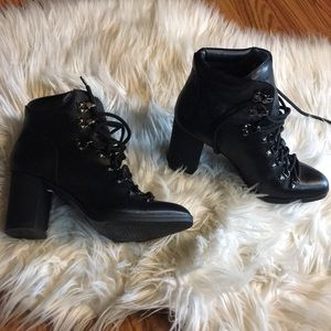 NWOT Calvin Klein EVEE lace up boots